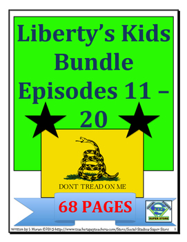 ELEMENTARY- Liberty's Kids Video Guides BUNDLE #11- #20