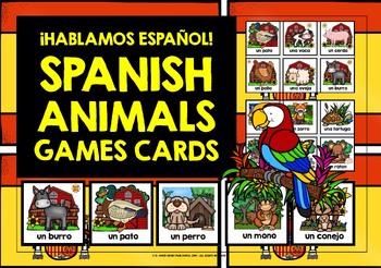ELEMENTARY SPANISH - ANIMALS (1) - GAMES, ACTIVITIES, MINI