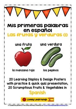 ELEMENTARY SPANISH FRUIT & VEGETABLES (1) - 20 DISPLAY/DES