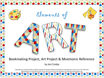 ELEMENTS of ART - Bookmaking Project, Visual Art Project,