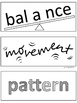 ELEMENTS of ART - Visual, Mnemonic Word Wall