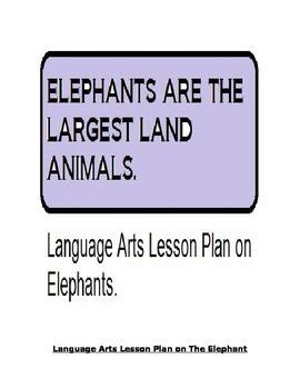 ELEPHANT LESSON PLAN