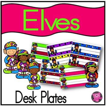 CHRISTMAS and ELVES NAME PLATES and WORD WALL CARDS