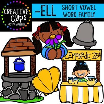 ELL Short E Word Family {Creative Clips Digital Clipart}
