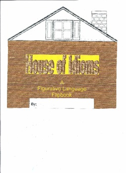 """ELL (Spanish Version) """"House of Idioms"""" Flip-book"""""""