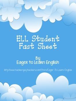 ELL Student Fact Sheet