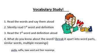 ELL - Vocabulary Study