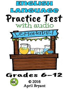ELPA 21 Practice Exam Lemonade Stand Theme