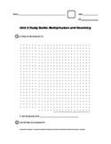 EM4/Everyday Math; Grade 4 - Unit 2 Study Guide: Multiplic
