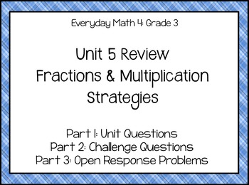 EM4 Gr3 U5 Review: Fractions & Multiplication Strategies,