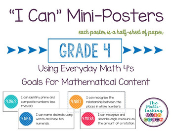 "EM4's Grade 4 Goals for Mathematical Content (GMCs) ""I Can"