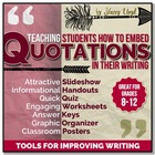 EMBEDDING QUOTATIONS: Tools for Teaching Writing
