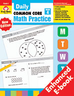 Daily Common Core Math Practice, Grade 4 e-book