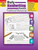 Daily Handwriting Practice: Traditional Manuscript (Enhanc