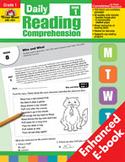 Daily Reading Comprehension: Grade 1 (Enhanced eBook)