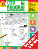 Daily Reading Comprehension: Grade 1 (Enhanced eBook)