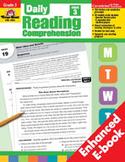 Daily Reading Comprehension, Grade 3 (Enhanced eBook)
