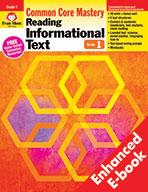 Reading Informational Text: Common Core Mastery, Grade 1 - e-book