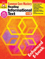 Reading Informational Text: Common Core Mastery, Grade 4 - e-book