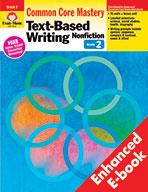 Text-Based Writing: Nonfiction: Common Core Mastery, Grade
