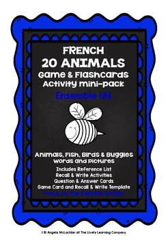 ELEMENTARY FRENCH - 20 ANIMALS (1) - GAMES, ACTIVITIES, MI