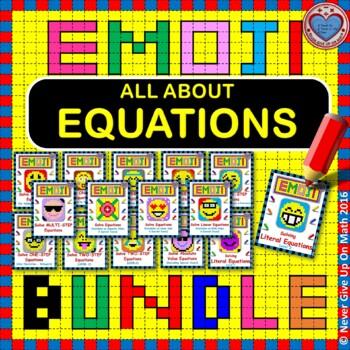 EMOJI - BUNDLE Solving Equations 50%+ OFF (13 EMOJIS)