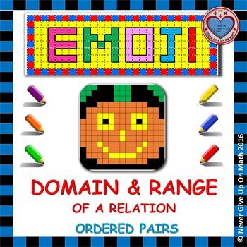 EMOJI - Domain & Range (Given Set of Ordered Pairs)