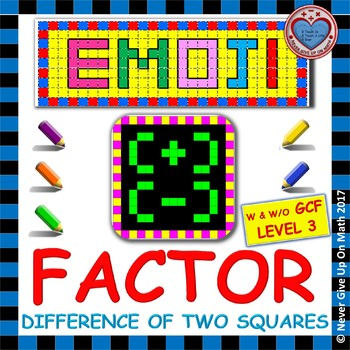 EMOJI - Factor: Difference of Two Squares L2