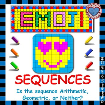 EMOJI - Is the sequence Arithmetic, Geometric, or Neither?