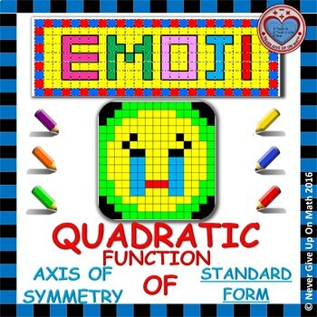 EMOJI - Quadratic Functions - Find the Axis of Symmetry (S