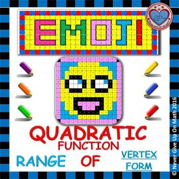 EMOJI - Quadratic Functions - Range of Quadratic Functions