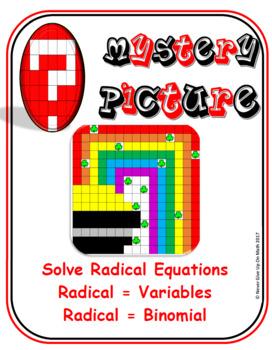 EMOJI - Solve Radical Equations : Radical = Variable & Rad