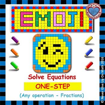 EMOJI - Solving 1-step EQU: Adding/Subtracting/Multiplying
