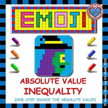 EMOJI - Solving Absolute Value Inequalities (ONE STEP INSIDE)