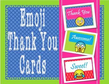 EMOJI Way to Go - Thank You Cards
