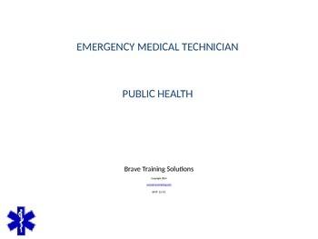 EMT LESSON ON PUBLIC HEALTH
