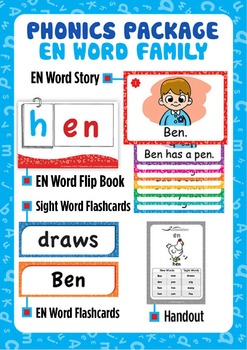 'EN WORD FAMILY' Phonics Lesson Package