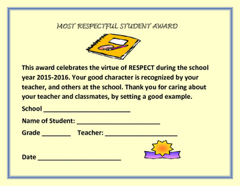 END OF THE YEAR AWARDS: FOR RESPECT