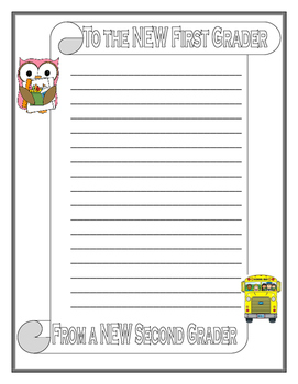 """END OF THE YEAR NOTES TO THE """"NEW"""" ___ GRADER"""