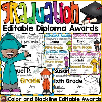 END OF YEAR EDITABLE DIPLOMA AWARDS