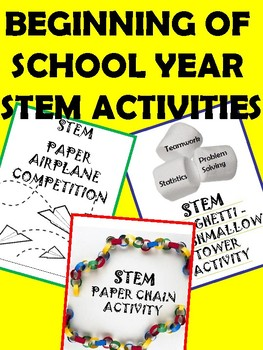 BACK TO SCHOOL STEM CHALLENGES!