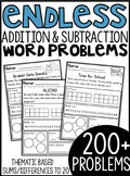 ENDLESS Addition and Subtraction Themed Word Problems (within 20)