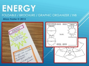 ENERGY Brochure foldable / graphic organizer, Interactive