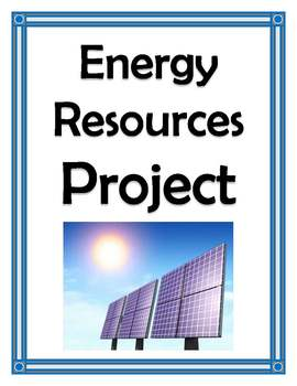 ENERGY RESOURCES RESEARCH PROJECT
