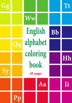 ENGLISH ALPHABET COLORING BOOK ABC FOR KIDS