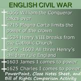 ENGLISH CIVIL WAR : powerpoint & activity