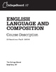 ENGLISH COMPOSITION FOR HIGHER EDUCATIONERS
