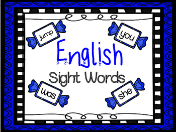 ENGLISH High Frequency Words Cards