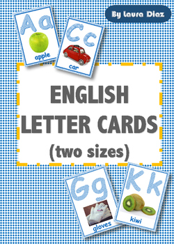 ENGLISH LETTER CARDS IN TWO SIZES