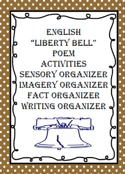 """ENGLISH """"Liberty Bell Poem""""  With Activities"""